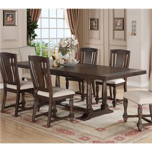 Winners Only Xcalibur Trestle Dining Table