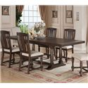 Winners Only Xcalibur Trestle Dining Table - Item Number: DX14296XB+T