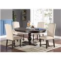Winners Only Xcalibur Table & 4 Chairs - Item Number: DX14866X+4XDX1454SX