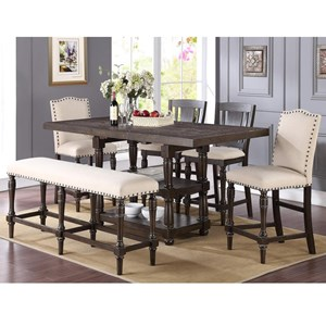 Winners Only Xcalibur Counter Height Dining Set