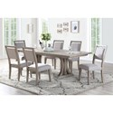 Winners Only Xena 7 Pc Dining Set - Item Number: DX34096+6xDX3450S