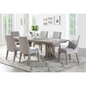 Winners Only Xena 7 Pc Dining Set - Item Number: DX34096+6xDX3451S