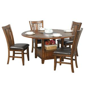 Winners Only Zahara 5 Piece Mission Style Pub Table And