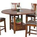 Winners Only Zahara 5 Piece Mission Style Pub Table  and Barstools - Counter Height Pub Table