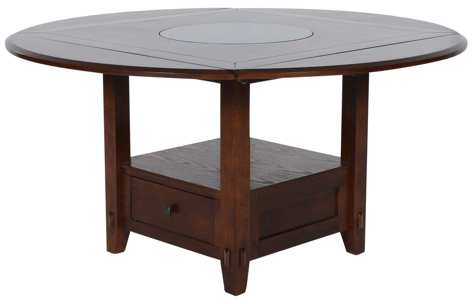 Round Counter Table W Round Granite Lazy Susan Sadler S Home Furnishings Pub Tables