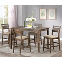 Winners Only Zoey 5-Piece Counter Table Set - Item Number: DZT13661+4xDZT145024