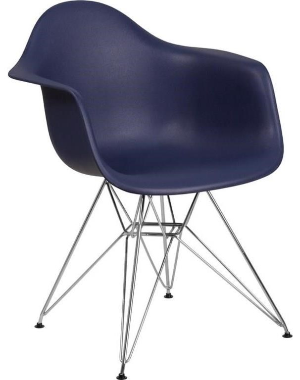 2 Navy Plastic Arm Chairs