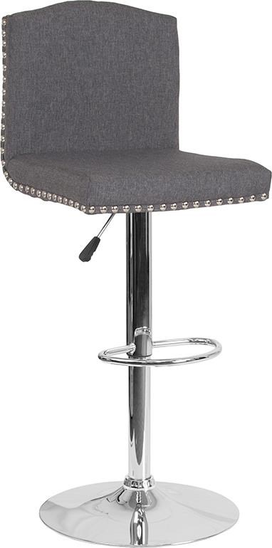 Adjustable Height Barstool with Accent Nail
