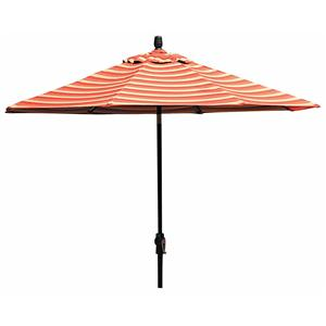 Winston Cast Aluminum Tables 9 Foot Aluminum Market Umbrella w/ Base