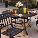 "Winston Cast Aluminum Tables 54"" Round Cast Aluminum Dining Table - Item Number: MCAS054+M9354B"