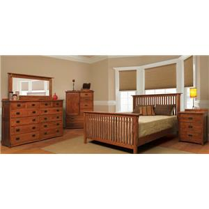 Witmer Furniture American Mission Four Piece Queen Bedroom Set