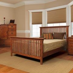 Witmer Furniture American Mission Queen Slat Bed
