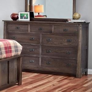 Customizable 9-Drawer Dresser
