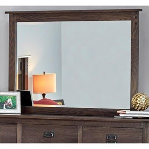 Dresser Mirror with Solid Wood Frame