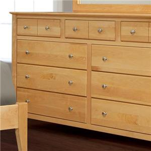 Witmer Furniture Stratford 9-Drawer Dresser