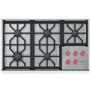 "Wolf Gas Cooktops 36"" Professional Gas Cooktop - 5 Burners"