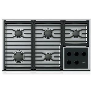 "Wolf Gas Cooktops 36"" Transitional Gas Cooktop - 5 Burners"