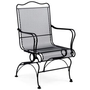High-Back Coil Spring Chair