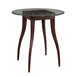 Woodbridge Home Accents Pub Table with Glass Top