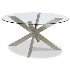 Axelle Round Dining Table with Glass Top