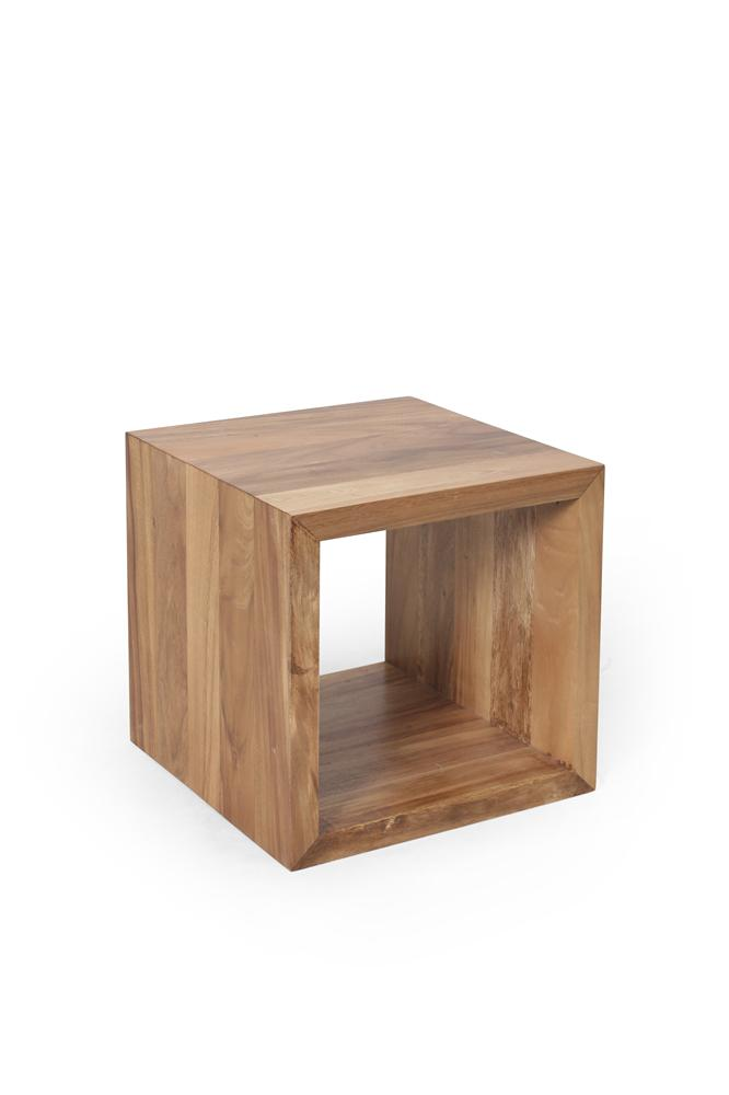 Morris Home Furnishings Hudson Wood Cube Hudson Accent Table - Item Number: 233110953