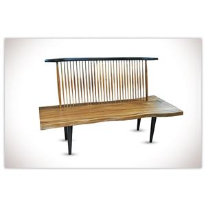 """Morris Home Furnishings Nicholas Naka Chair Nicholas 71"""" Bench"""