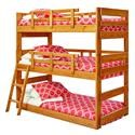 Woodcrest Twin/Twin/Twin bunk bed Twin /Twin /Twin Bunk Bed - Item Number: 2633