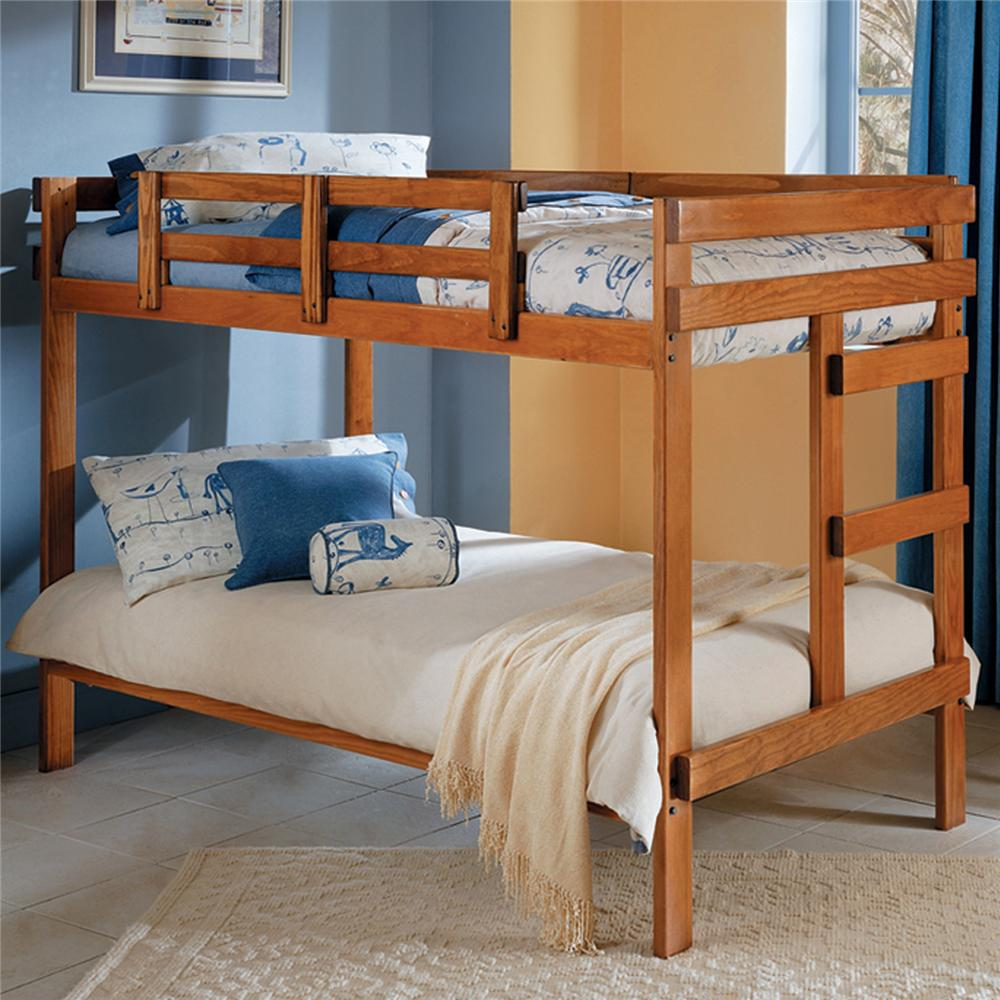Canopy Style Bed Available For Order In These Wood Colours: Woodcrest Heartland BR Traditional Style Wooden Bunk Bed