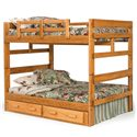 Woodcrest Heartland BR Full/Full Bunk Bed with Center Support - Item Number: 2654
