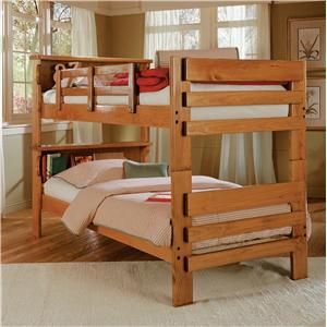 Woodcrest Heartland BR Bookcase Bunk Bed