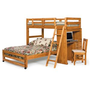 Woodcrest Heartland BR Twin/Full Loft Bed Set
