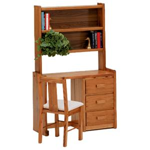 Woodcrest Heartland BR Desk and Hutch Set