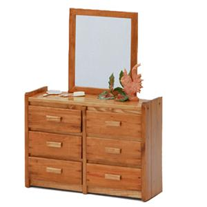 Woodcrest Heartland BR Dresser and Mirror