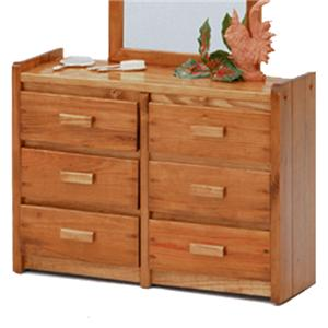 Woodcrest Heartland BR 6 Drawer Chest