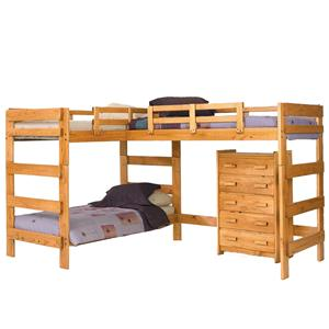 Woodcrest Heartland BR L-Shaped Loft Bed