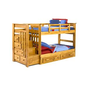 Woodcrest Heartland BR Twin/Twin Stairway Bunk
