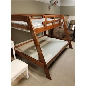 Woodcrest Heartland Twin/Full Size A-Frame Bunk Bed