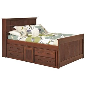 Woodcrest Heartland Twin Captain's Bed