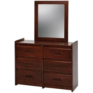 Woodcrest Heartland Dresser and Mirror