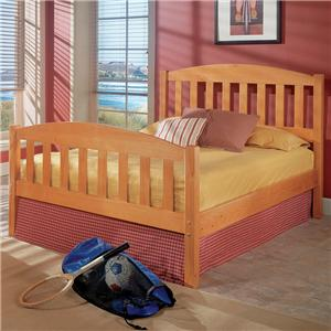 Woodcrest Pine Ridge Twin Mission Bed