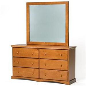 Woodcrest Pine Ridge Dresser & Mirror