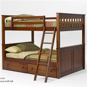 Woodcrest Pine Ridge Full/Full Panel Bunk Bed