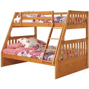 Woodcrest Pine Ridge Twin Over Full Bunk Bed