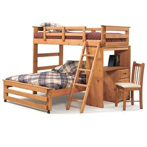 Woodcrest Woody Creek Twin/Full Loft Bed