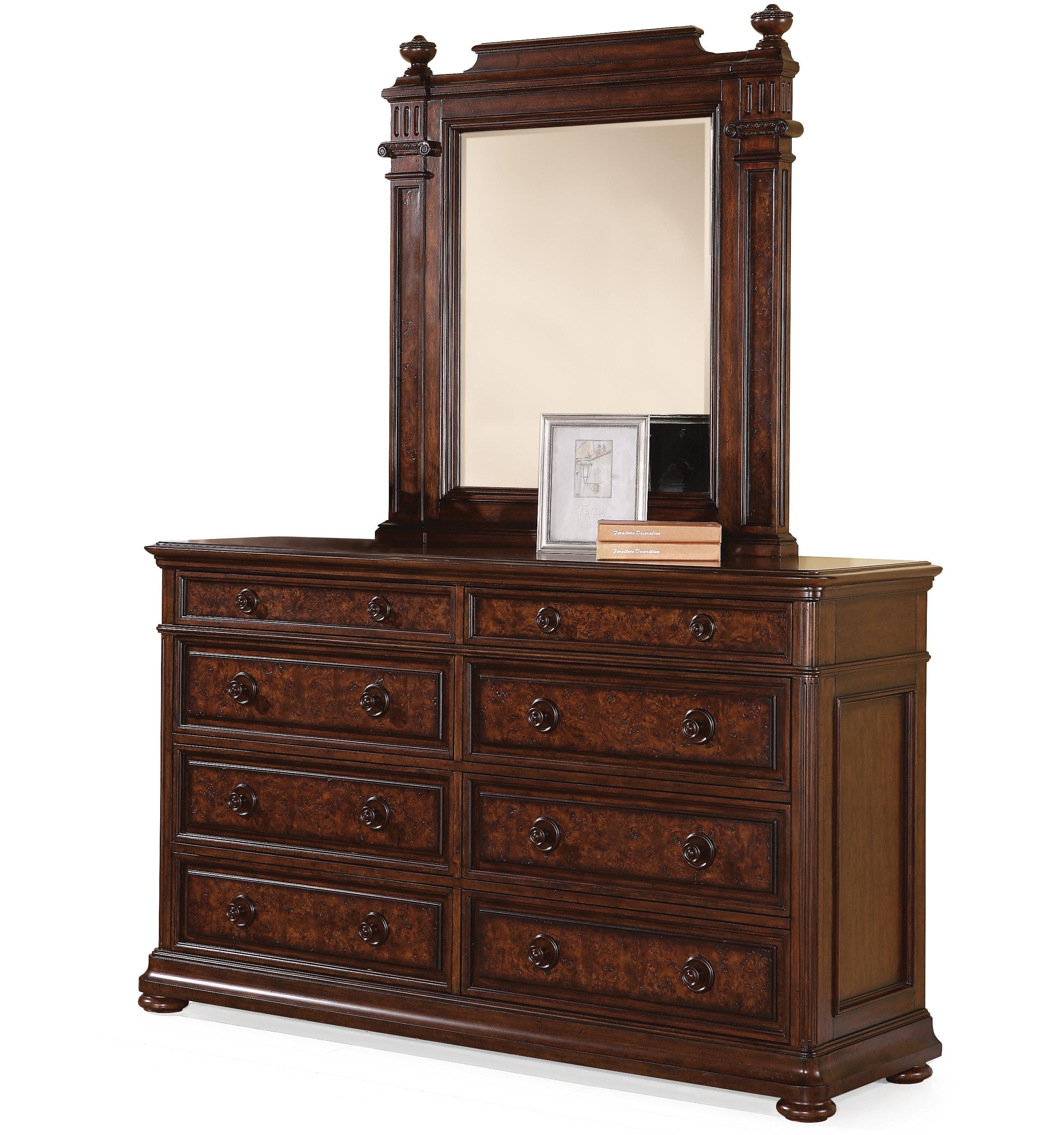 Flexsteel Wynwood Collection Aberdeen Dresser and Mirror Set - Item Number: W1952-860+80