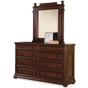 Flexsteel Wynwood Collection Aberdeen Dresser and Mirror Set