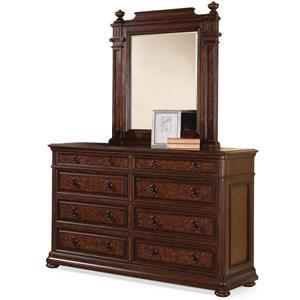 Flexsteel Wynwood Collection Aberdeen Dresser and Mirror Set