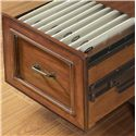 Flexsteel Wynwood Collection American Heritage Executive Desk with 6 Drawers and Bun Feet - Desk Features Two Locking File Drawers