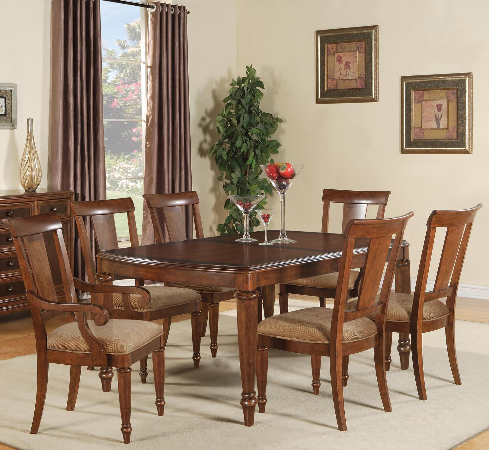 Brendon 7 Piece Dining Table And Chairs Set By Flexsteel Wynwood Collection