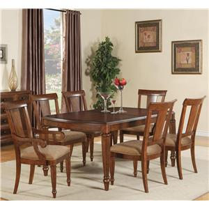 Flexsteel Wynwood Collection Brendon 7 Piece Dining Table Set